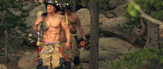 Baskit Firefighters Put The Fire Out SHIRTLESS!
