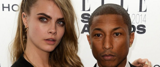 Cara Delevingne Is Recording Music With Pharrell!