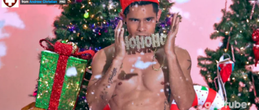 "Andrew Christian ""Hunky Santas"" Shake Their Candy Canes"