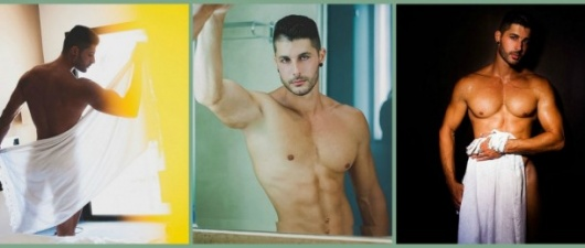 Javier Cabrera: Model In Atelier DT And Just A Towel