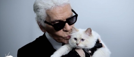 Karl Lagerfeld Loves His Cat, Isn't Afraid to Tell Rihanna