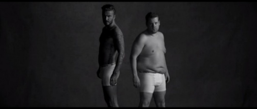 Watch David Beckham and James Corden In Their Underwear!