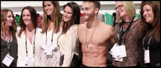 James Pianka Tries On Underwear Galore At The Las Vegas Trade Show
