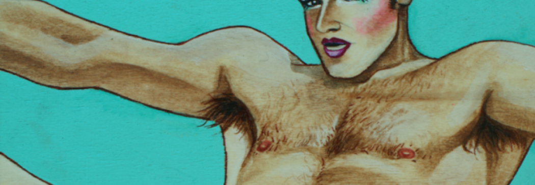 Gay Artist Paints Vintage Gay Porn Stars In Drag Face!