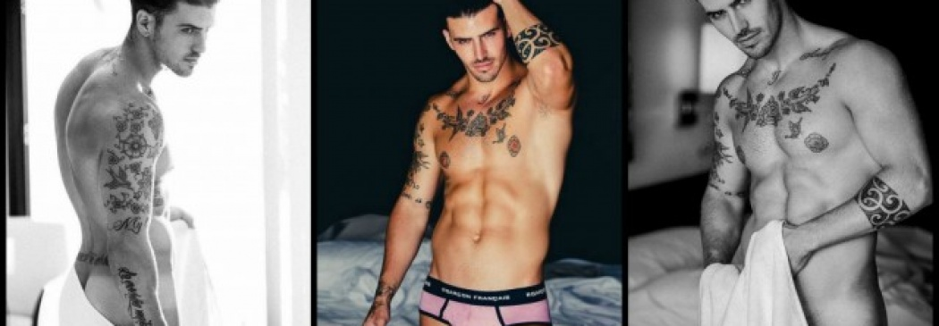 Oh La La! Sexy Tatted Underwear Model In Garçon Français