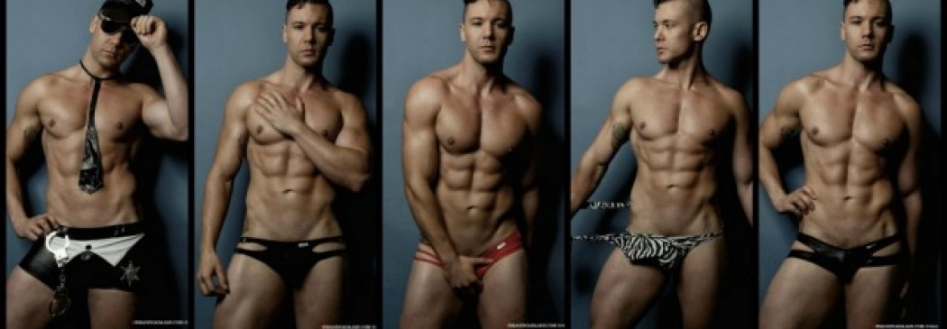 Tomas Evans Shows Off His Body In Candyman Costumes!