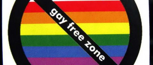 London's East Side Stickered as GAY FREE ZONE Over The Weekend