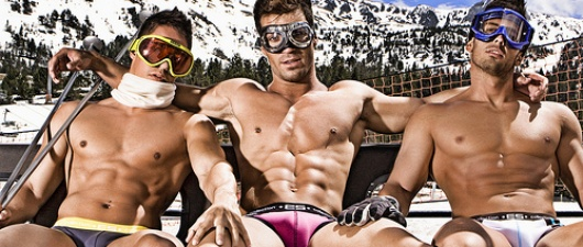 2 Poles up for Whistler Gay Ski Week!