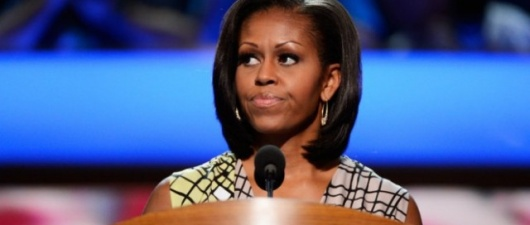 """Michelle Obama Confronts Protester, Threatens to Leave Fundraiser (from """"The Washington Post"""")"""