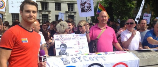 Gay Russia Protest, London: Video