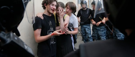 Gays In Russia Find No Haven, Despite Support From The West (From The New York Times)