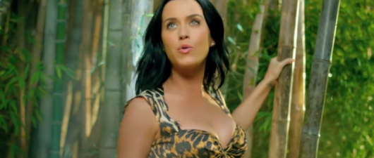 Katy Perry Does Her Best 'George Of The Jungle' With 'Roar'