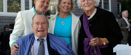 George H.W. Bush Is Witness At Same-Sex Marriage