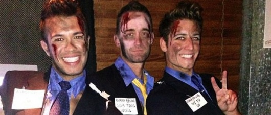 Gay Halloween Revelers Mock Asiana Airlines Crash