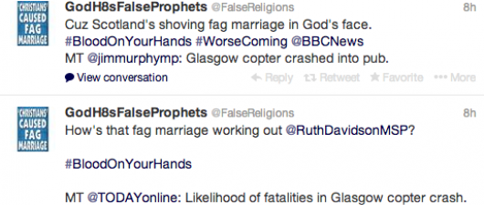Hate Group Blames Scotland Gay Marriage For Helicopter Disaster