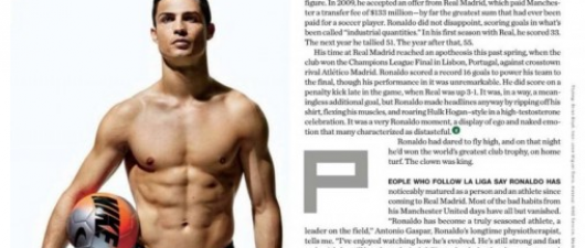 "Cristiano Ronaldo Plays Soccer In His Underwear For ""Men's Health"""