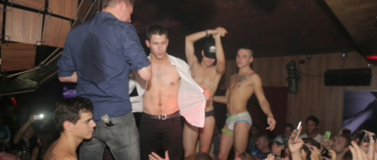 Nick Jonas Flashes His Chiseled Abs At A Gay Bar! HOT!