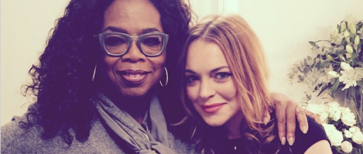 Oprah Went To See Lindsay Lohan Perform on Stage in London