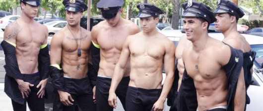 "Andrew Christian: Are You Ready For The ""Police Car Wash?"""